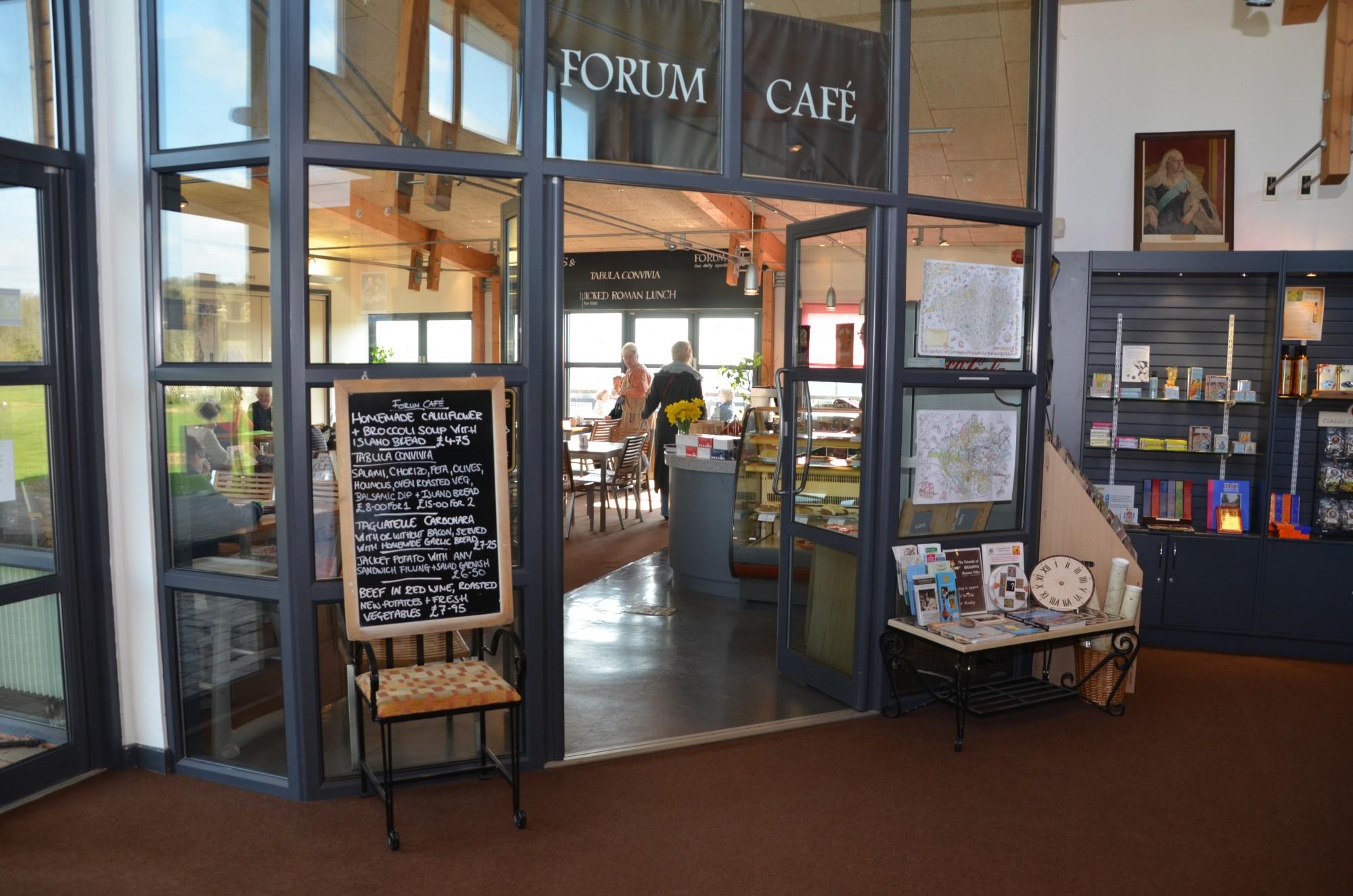 Forum Cafe Brading Roman Villa - May 2013 Tim Addison