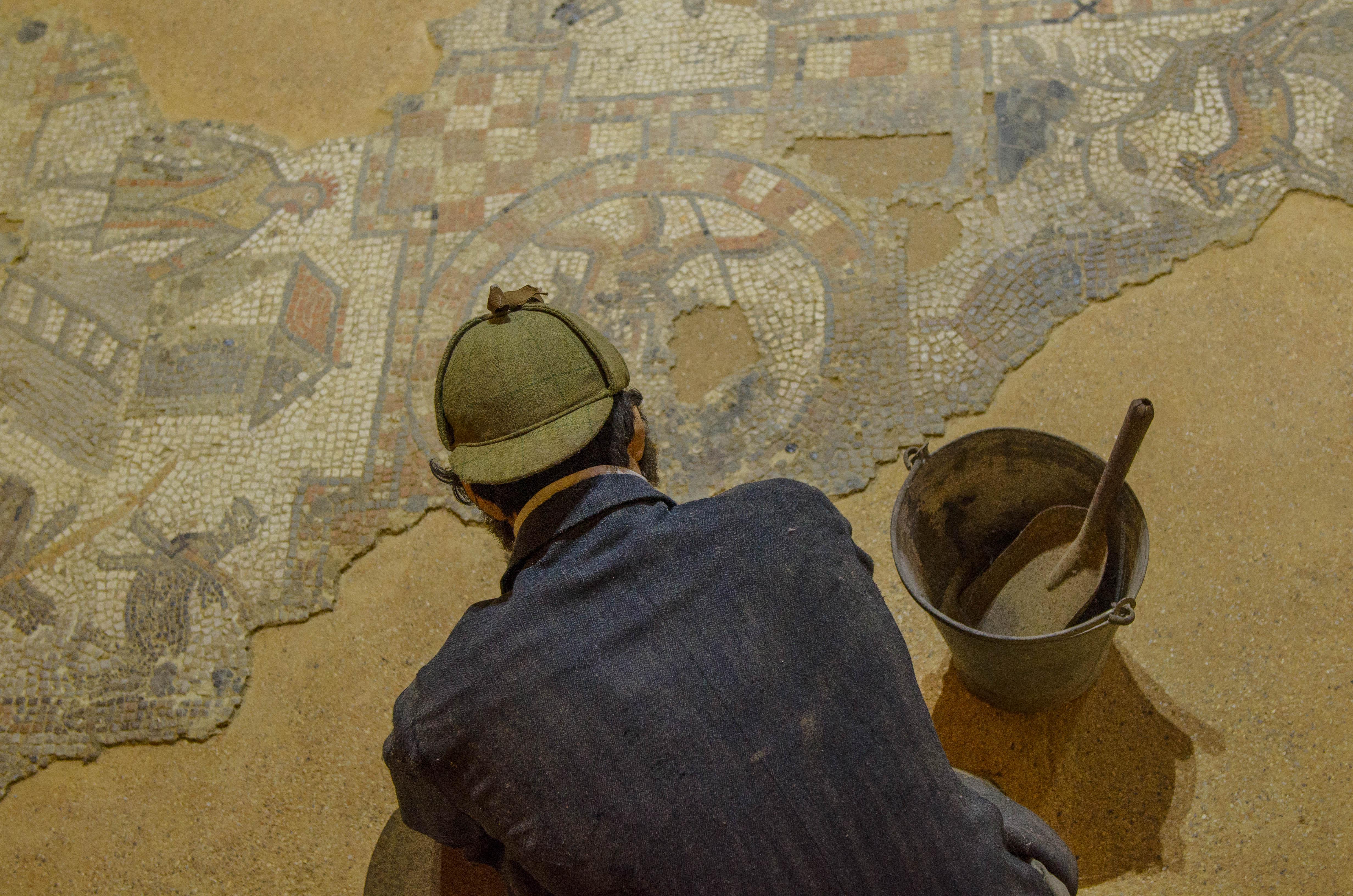 Mosaic at Brading Roman Villa