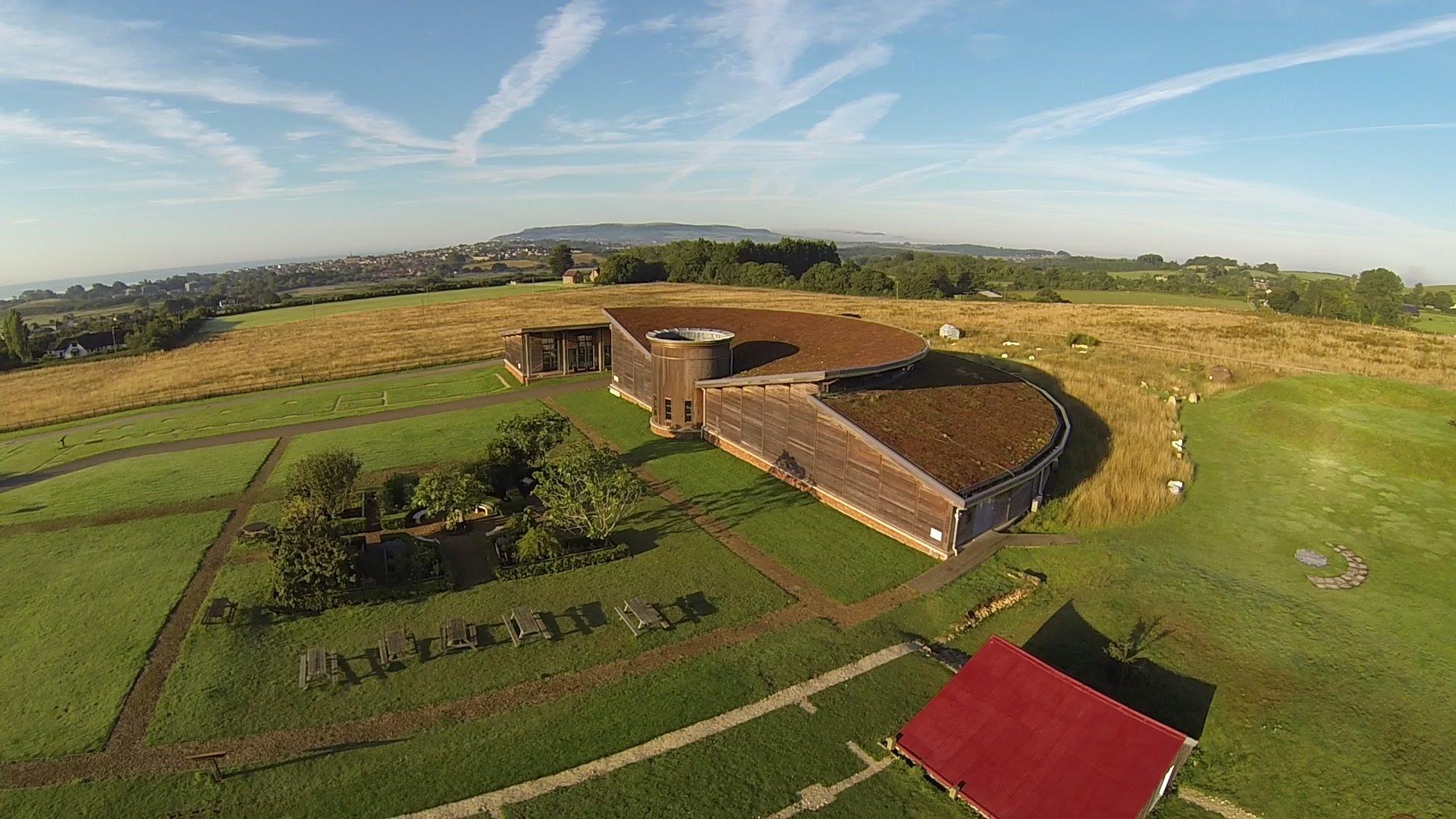 brading roman villa aerial