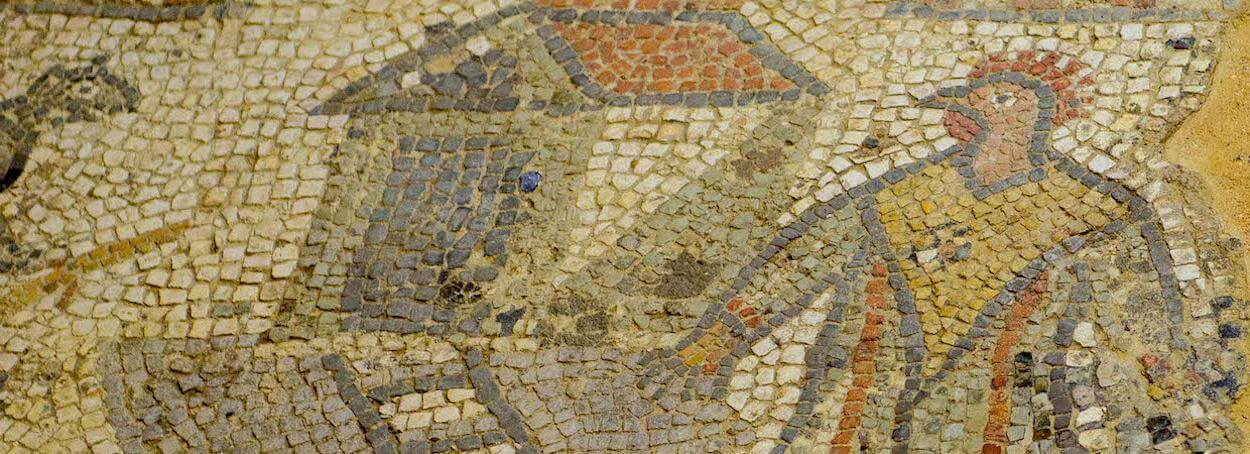 Mosaic+Chicken+Man+at+BRading+Roman+Villa